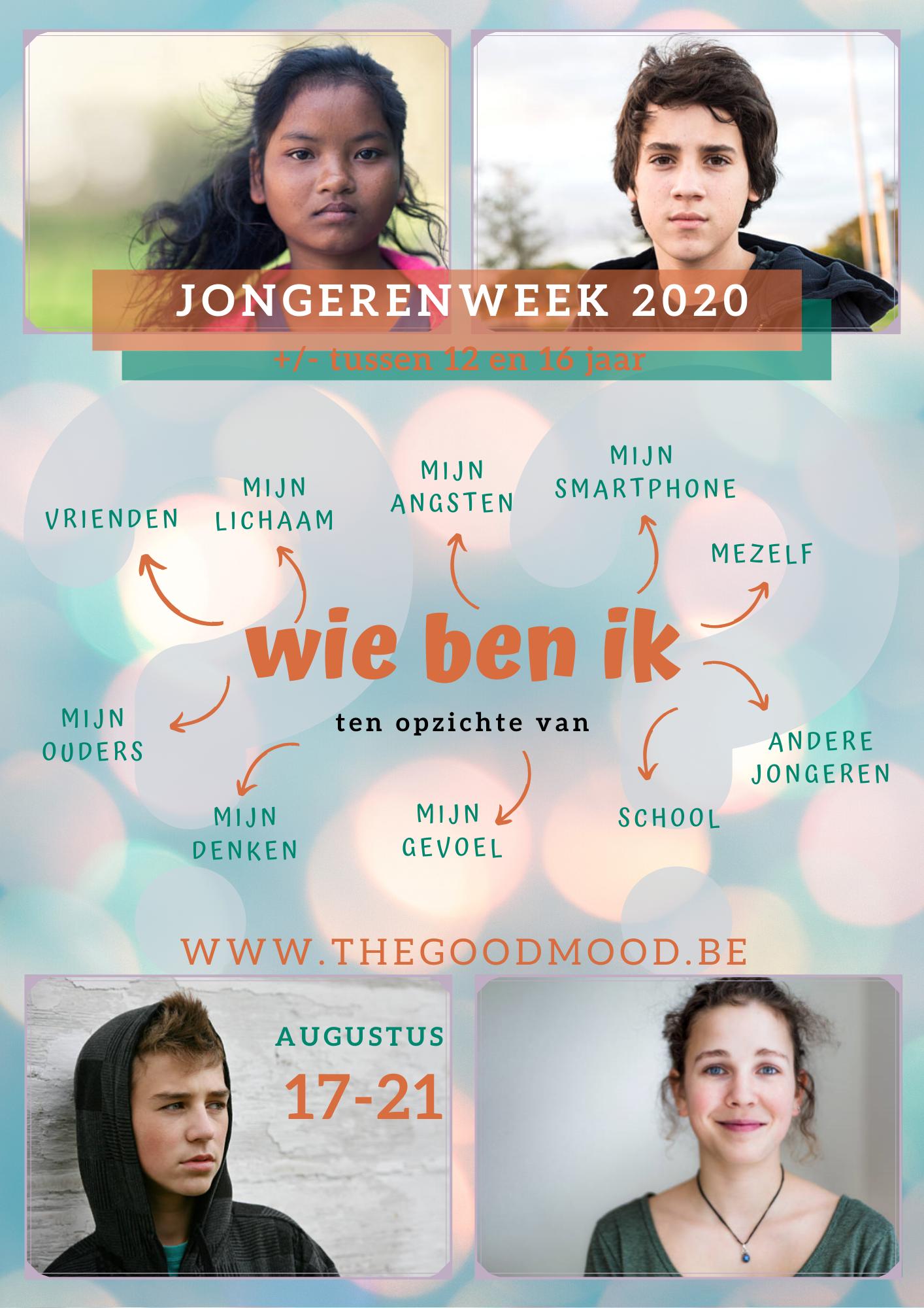Jongerenweek 17/08 tem 21/08/2020
